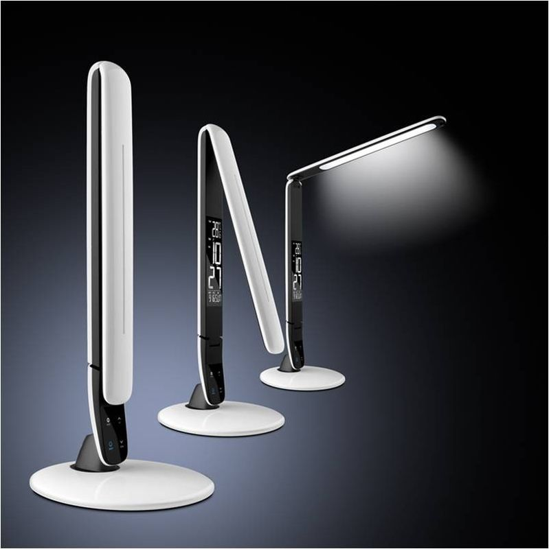 Contemporary Rechargeable Battery Operated Desk Lamp With Alarm Clock supplier