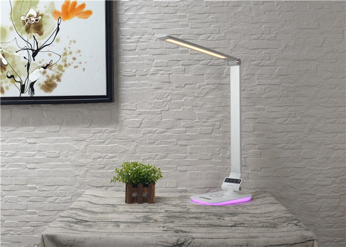 Decorated Bedside Led Sensor Wireless Charging Lamp With Rgb Colorful Nightlight