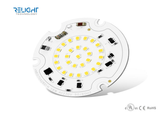 Dimmable Integrated Driverless 16W SMD2835 Round LED Module AC100V - 230V 50Hz / 60Hz supplier