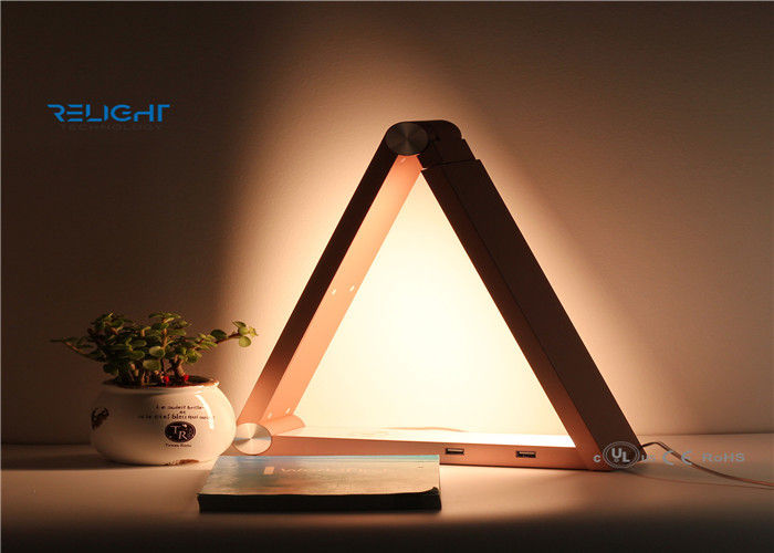 Lovely 6.5w Dc12v Triangle Wireless Charging Lamp , Bedroom Table Lights Super  Bright