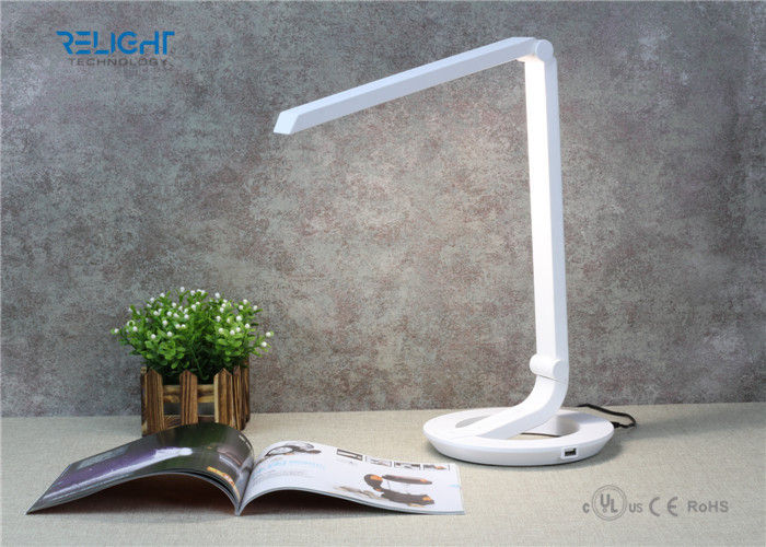 Foldable LED Desk Lamp with USB Output Charging Port Flicker Free and Brightness Dimmable