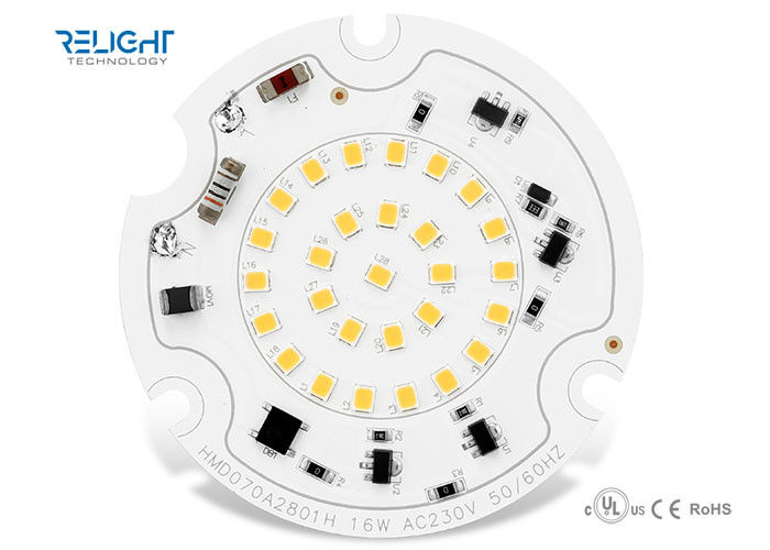 16W Diameter 70mm AC LED Module CE Certified With Triac Dimmable