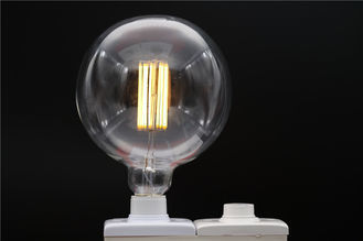 China Warm White 8W 400lm Aluminum Led Filament Bulb 85V - 265V 2700K - 6500k distributor