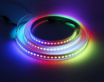 China Full Color 256 Brightness Flexible Led Light Strips Built - In IC 72 /96 / 144 Leds / M distributor