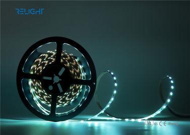 Full Color 256 Brightness Flexible Led Light Strips Built - In IC 72 /96 / 144 Leds / M