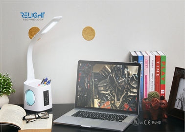 Students Reading Small Modern Desk Lamp With Touch Control , Pen Holder , Calendar Dispaly