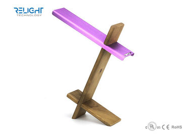 Portable Led Table Light With Usb Port With Wood Base , Fashion Design