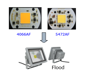 70W 220V Bridgelux SMD LED Module DOB Led Flood Light Module 5472AF