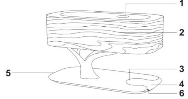 Tree Design Led Table Lamp Wireless Charger Wifi Speaker