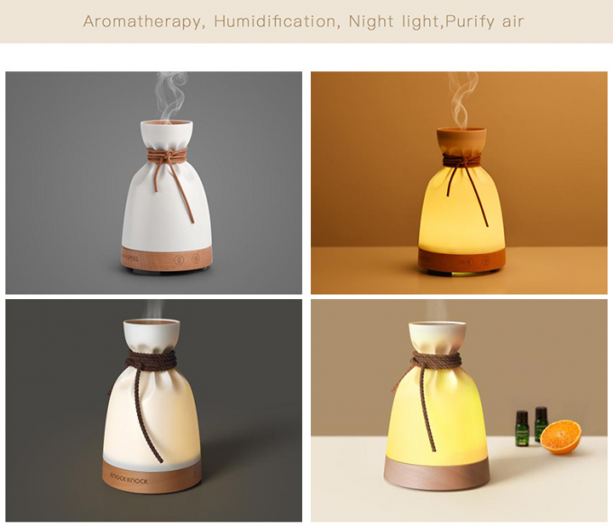 LED night light with aromatherapy, humidification and air-purifying for home, office and hotel decoration lighting