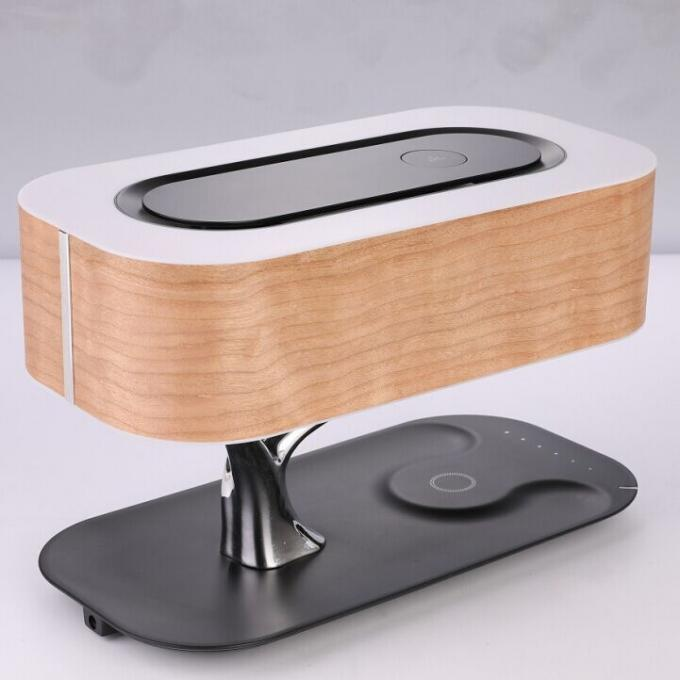Office table lamp with wireless charger and bluetooth speaker