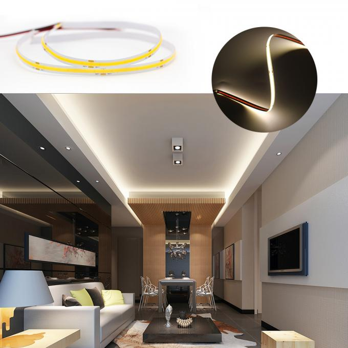High End COB Flexible LED Strip Lights IP20 180 Degree Beam Angle 3 Years Warranty