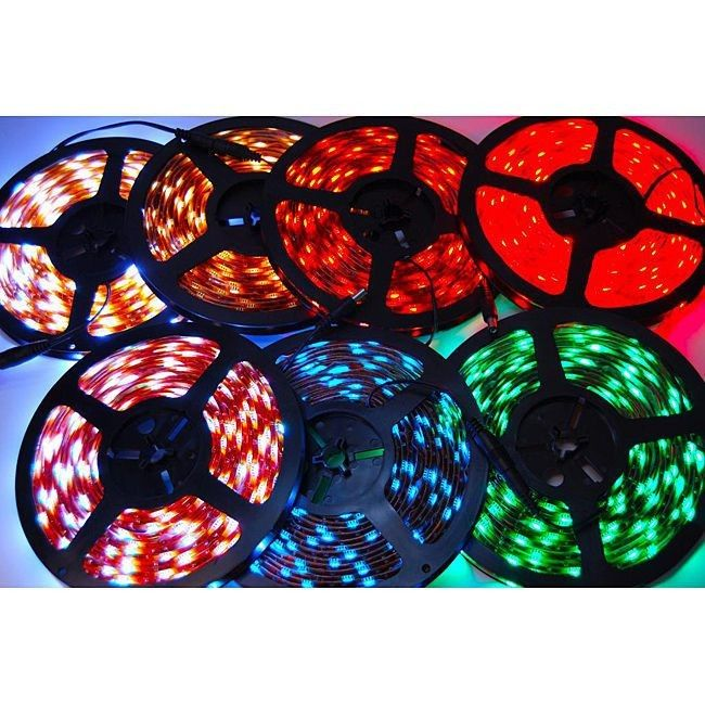 Full color IC led strip 18w / m built - in IC 5050 Flexible LED Strip Lights with 3m tape on the back