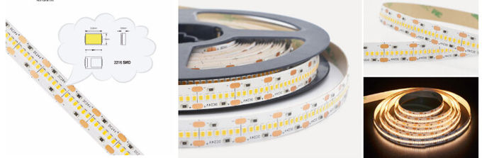 High CRI 98RA 2216 Flexible LED Strip Lights For Decorate / Back Lighting 0